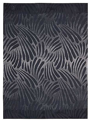 "Home Accents Contour Wave 3'6"" x 5'6"" Area Rug, Gray, large"