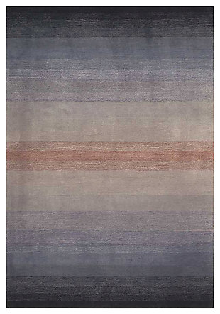"Home Accents Contour Contemporary 3'6"" x 5'6"" Area Rug, Gray, large"