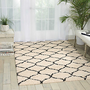 Nourison Windsor White 5'x7' Area Rug, Ivory, rollover