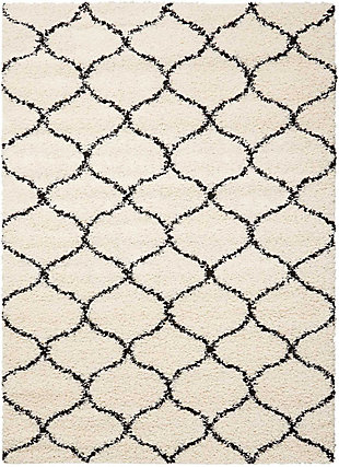 Nourison Windsor White 5'x7' Area Rug, Ivory, large