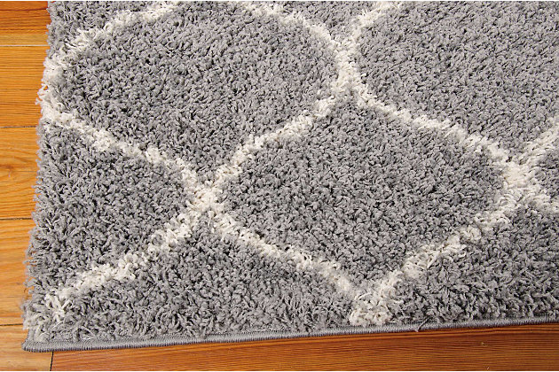 Nourison Windsor Gray 5'x7' Area Rug, Silver, large