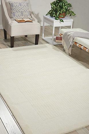Nourison Westport White 5'x8' Area Rug, Ivory, rollover