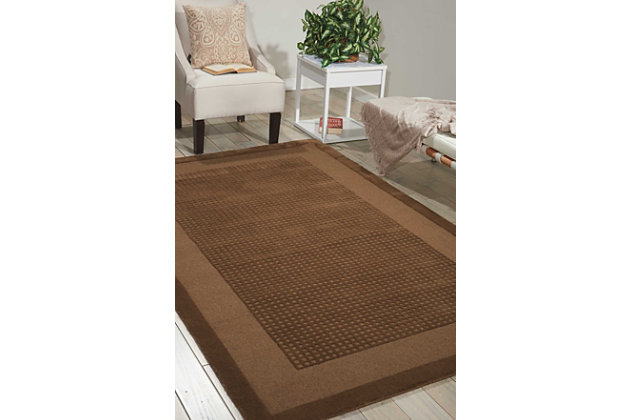 Nourison Westport Brown 8' Runner Hallway Rug, Mocha, large
