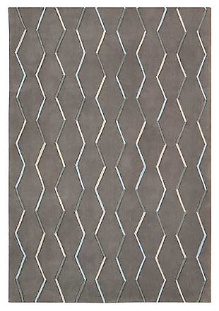 "Home Accents Contour Lines 5' x 7'6"" Area Rug, Gray, large"