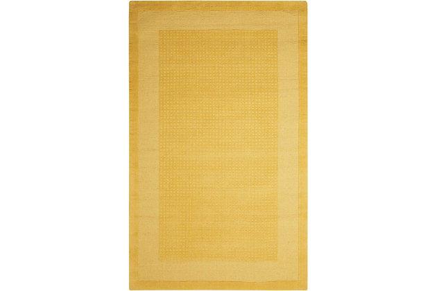 Nourison Westport Yellow 5'x8' Area Rug, Yellow, large