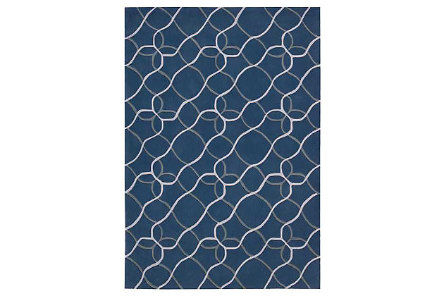 "Home Accents Contour Texture 5' x 7'6"" Area Rug, Blue, large"