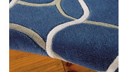 """Home Accents Contour Texture 5' x 7'6"""" Area Rug, Blue, rollover"""