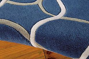 "Home Accents Contour Texture 7'3"" x 9'3"" Area Rug, Blue, large"