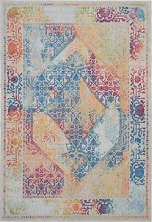 Nourison Ankara Global Multicolor 5'x8' Boho Area Rug, Ivory/Multi, large