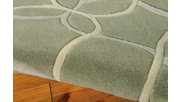 "Home Accents Contour Texture 3'6"" x 5'6"" Area Rug, Green, rollover"