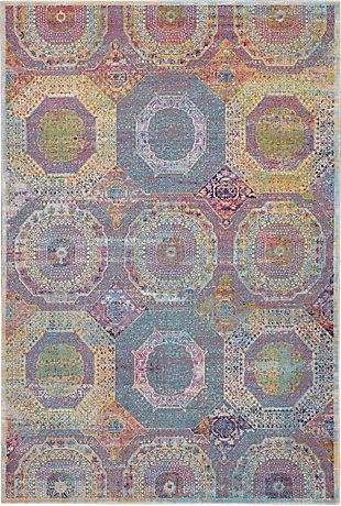 Nourison Ankara Global Multicolor 5'x8' Boho Area Rug, Multi, large
