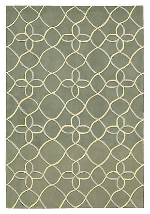 "Home Accents Contour Texture 5' x 7'6"" Area Rug, Green, large"