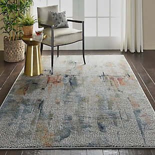 Nourison Ankara Global White Multicolor 5'x8' Abstract Area Rug, Ivory/Multi, rollover