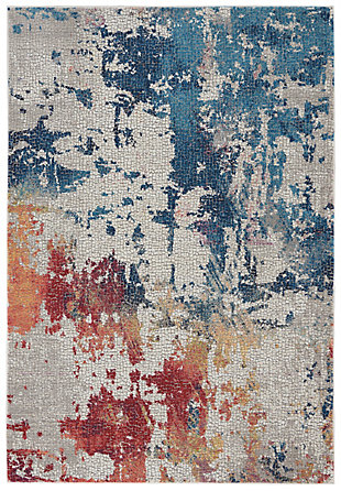 Nourison Ankara Global Multicolor 5'x8' Abstract Area Rug, Multi, large