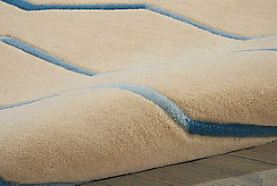 "Home Accents Contour Lines 7'3"" x 9'3"" Area Rug, Beige, large"
