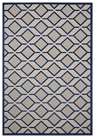 Home Accents Aloha Checkered Area Rug, , large
