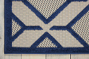"Home Accents Aloha Checkered 5' x 7'5"" Area Rug, Blue, rollover"