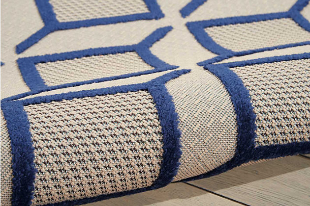 """Home Accents Aloha Checkered 5' x 7'5"""" Area Rug, Blue, large"""
