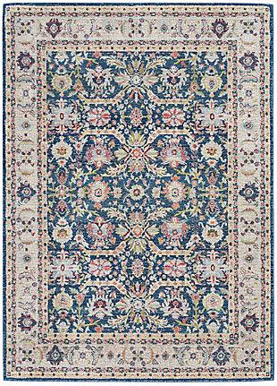 Nourison Ankara Global Navy Blue Multicolor 5'x8' Persian Area Rug, Navy/Multi, large