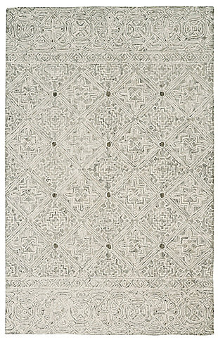 Nourison Azura Gray 5'x8' Farmhouse Area Rug, , large