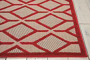 "Home Accents Aloha Checkered 5' x 7'5"" Area Rug, Red, rollover"