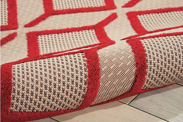 """Home Accents Aloha Checkered 5' x 7'5"""" Area Rug, Red, large"""