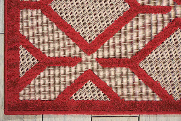 "Home Accents Aloha Checkered 7'10"" x 10'6"" Area Rug, Red, large"