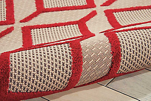 """Home Accents Aloha Checkered 7'10"""" x 10'6"""" Area Rug, Red, large"""