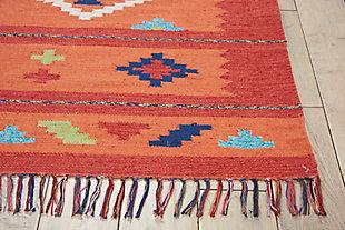 Nourison Baja Orange 5'x7' Southwestern Area Rug, Orange/Red, large