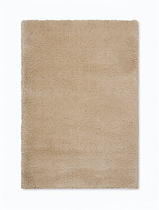 Nourison Brooklyn Beige 5'x8' Plush Area Rug, Beige, rollover