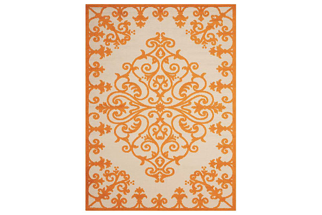 area rugs with orange accents orange throw home accents aloha 5 75