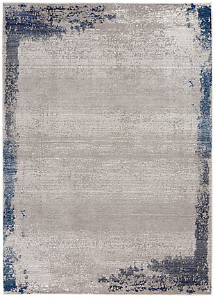 """Nourison Etchings 5'3"""" x 7'3"""" Gray/Navy Artistic Area Rug, Gray/Navy, large"""