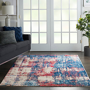 """Nourison Etchings 5'3"""" x 7'3"""" Multicolor Painterly Area Rug, Multi, rollover"""
