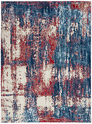 "Nourison Etchings 5'3"" x 7'3"" Multicolor Painterly Area Rug, Multi, large"