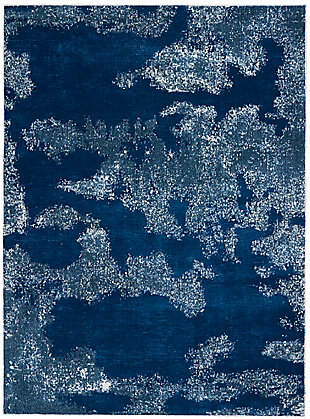 """Nourison Etchings 5'3"""" x 7'3"""" Blue Abstract Area Rug, Blue, large"""