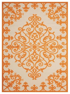 "Ashley Home Accents Aloha 7'10"" x 10'6"" Area Rug, Orange"