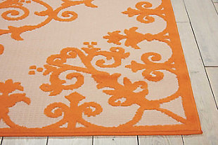 "Home Accents Aloha 7'10"" x 10'6"" Area Rug, Orange, rollover"