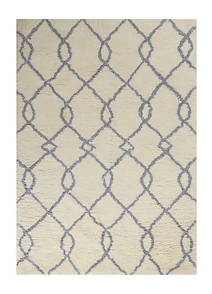 Nourison Galway Blue and White 5'x7' Area Rug, Ivory/Blue, large