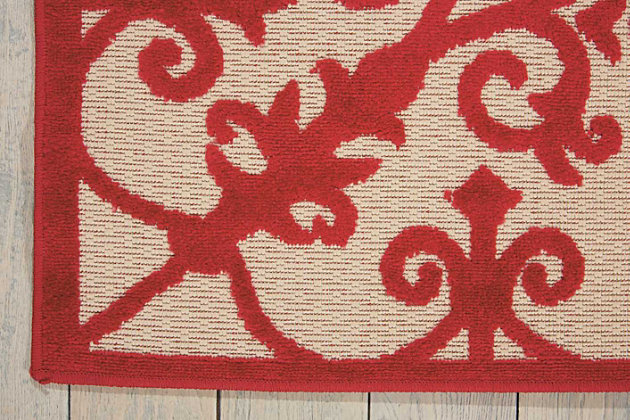 "Home Accents Aloha 5' x 7'5"" Area Rug, Red, large"