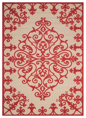 "Ashley Home Accents Aloha 7'10"" x 10'6"" Area Rug, Red"