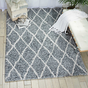 Nourison Galway Gray 5'x7' Area Rug, Gray/Ivory, rollover