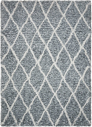 Nourison Galway Gray 5'x7' Area Rug, Gray/Ivory, large