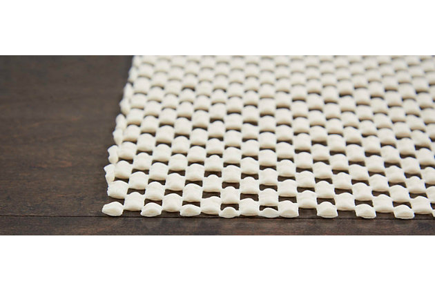 Nourison GridLoc 5' x 8' Rectangle Non-Slip Rug Pad, Ivory, large