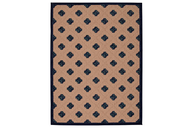 "Home Accents Aloha Triangle 7'10"" x 10'6"" Area Rug, Blue, large"