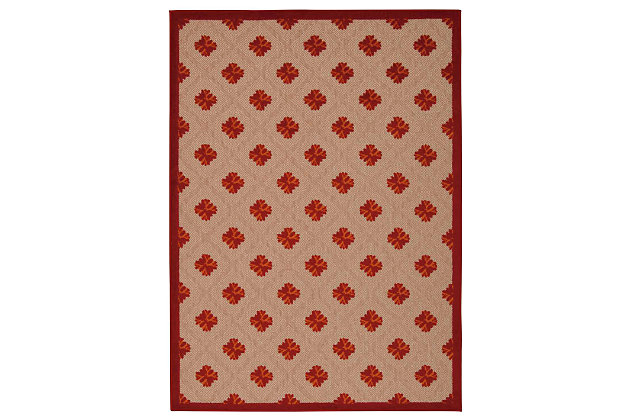 """Home Accents Aloha Triangle 7'10"""" x 10'6"""" Area Rug, Red, large"""