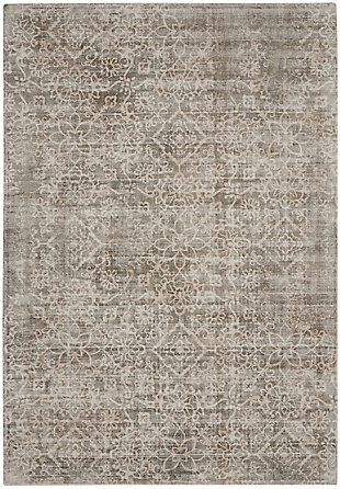 Nourison Home Desert Skies Gray 5'x8' Area Rug, Gray, large