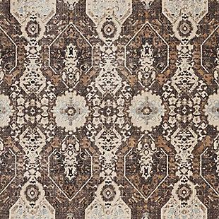 Nourison HomeSilver Screen Charcoal and Silver 5'x7' Area Rug, Mocha/Slate, large