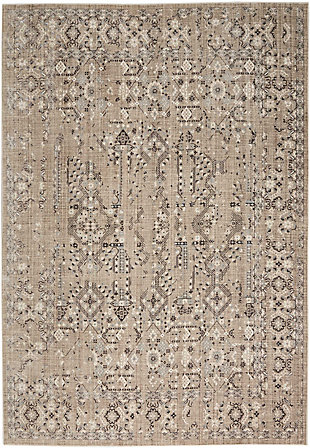 Nourison HomeSilver Screen Taupe 5'x7' Area Rug, Latte, large