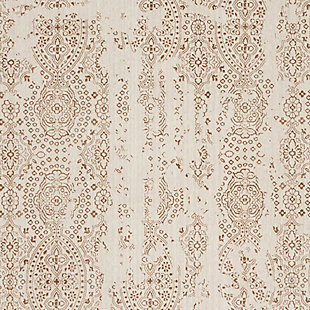 Nourison HomeSilver Screen Ivory and Gold 5'x7' Area Rug, Ivory/Mocha, large