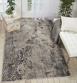 Nourison Home Heritage Gray 5'x7' Area Rug, Gray, rollover